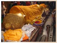 Statue du Nirvana du Bouddha à Kushinagar - Pèlerinage Bouddhisme Inde Népal Amitabha Terre Pure
