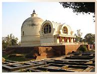 Temple du Nirvana du Bouddha à Kushinagar - Pèlerinage Bouddhisme Inde Népal Amitabha Terre Pure
