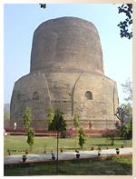 Stupa à Sarnath - Pèlerinage Bouddhisme Inde Népal Amitabha Terre Pure